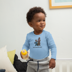mockup-of-a-baby-boy-wearing-a-onesie-in-his-crib-30034